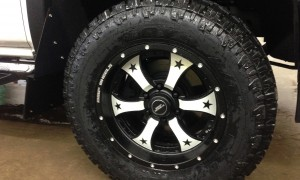 Todds White Truck reflective rims