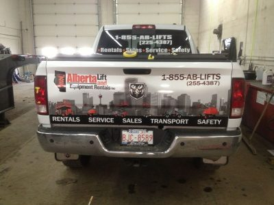 Rear Window Perforated Decal & Tailgate Wrap // Fleet Marking