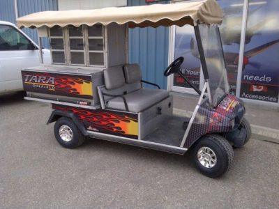 Flames Wrap // Golf Cart Wraps