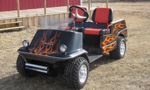 golf-cart-flames