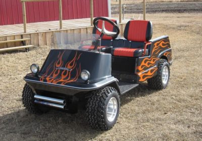 Flames Decals // Golf Carts Graphics