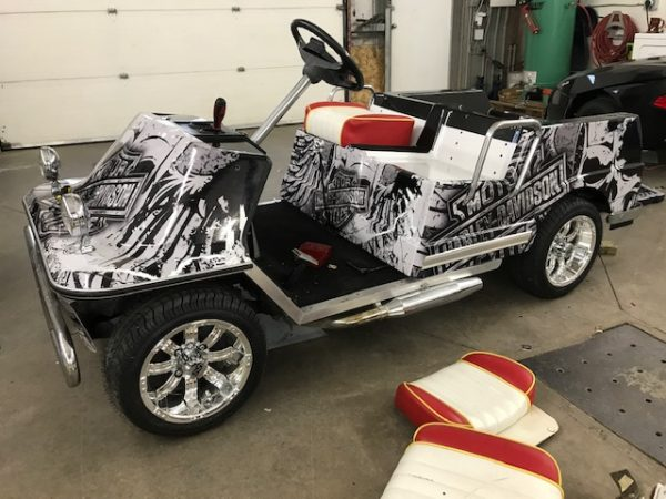 Harley Davidson Wrap // Golf Cart Wraps