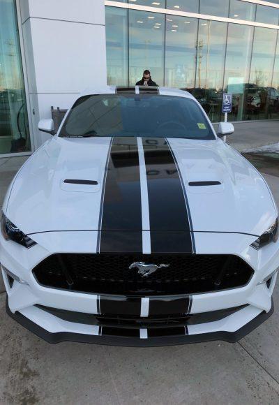 Black Race Stripes // Cars